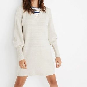 Madewell Bubble Sleeve Sweater Dress